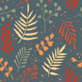 Decorative seamless pattern with leaf, abstract leaf texture. — Stock Vector