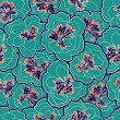 Beautiful floral seamless pattern. Garden blossom pastel flowers. Vector illustration. Seamless pattern can be used for wallpapers, web page background, wrapping papers, surface textures. — Stock Vector #60680803