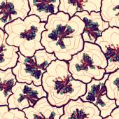 Beautiful vintage floral seamless pattern. Garden blossom blue flowers. — ストックベクタ