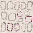 Sketch of frames, hand drawing for your design. — Stock Vector #63804731