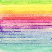 Striped hand drawn watercolor background. Raster version. Brigth colors. — Foto de Stock