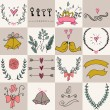Set of icons for Valentines day, Mothers day, wedding, love and romantic events. — Stock Vector #78531686