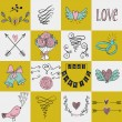 Set of icons for Valentines day, Mothers day, wedding, love and romantic events. — Stock Vector #78531762