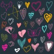 Set of hand drawn hearts. Valentine hearts for your design. — Stock Vector #78531904