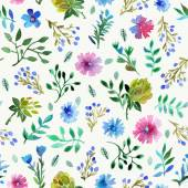 Seamless pattern with Beautiful flowers and leaves. — Stock Vector