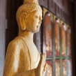 Wooden Buddha Statue Inside Chainese Temple — Stock Photo #52720683
