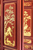 Chinese traditional painting on door — Stock Photo