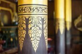 Close-up Ornate pillar in Lanna temple — ストック写真