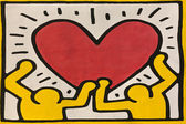 Keith haring's reproduction graffito — Stock Photo