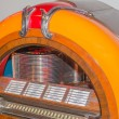 Retro vintage jukebox record player — Stock Photo #58086851
