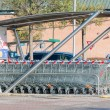 Empty shopping carts stacked together — Stock Photo #60535359