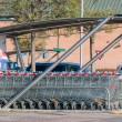 Empty shopping carts stacked together — Stock Photo #60815503