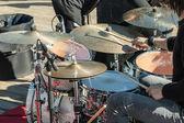 音乐鼓: 手用木棍 — 图库照片