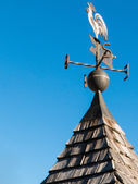 Weathercock, weather vane wind direction decoration — Stock Photo