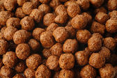 Cereal chocolate balls background — Foto de Stock