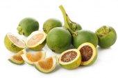 Raw betel nut on white background — Stock Photo