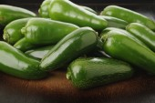 Green jalapeno peppers — Stock Photo