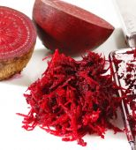 Grated beets on a white  — Stock Photo