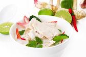 Thai cuisine- tom kha kai -chicken in coconut milk soup — Stock Photo