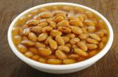 salted fermented soybeans in white bowl — Stock Photo