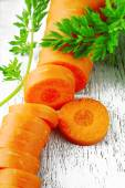 Cut baby carrot — Stock Photo