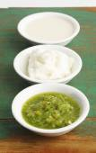 Sour cream, sauce for lebanon food — Stock Photo