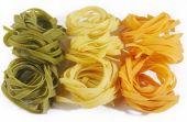 Fettuccine pasta on white — Stock Photo