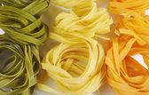 Italian pasta tagliatelle — Stock Photo