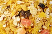 Muesli background — Stock Photo