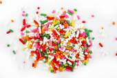 Macro of rainbow sprinkles  — Stock Photo