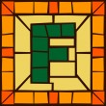 F- Mosaic alphabet capital letters — Stock Vector #63909323