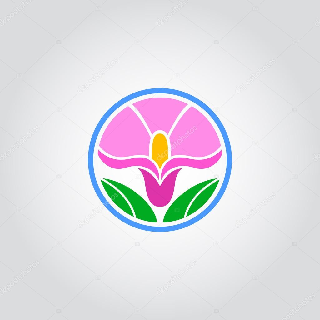 Pink flower icon stock vector image4stock 82356906 pink flower icon stock vector 82356906 dhlflorist Images