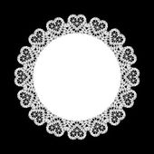 Lace round ornament background — Stock Vector