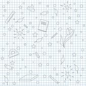 School sketch — Stock Vector