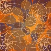 Background for Halloween from the web and circles — Vettoriale Stock