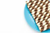 Wafer on white background — Foto Stock