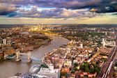 East London Skyline Cityscape — Stock Photo