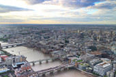 West London Cityscape over the river Thames — Stock Photo