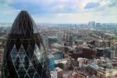 London cityscape over Gherkin building — Stock Photo