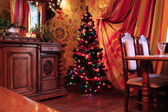 Room with a Christmas Tree — Stock Photo