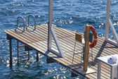 Waterside wooden Jetty — Stock Photo