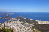 Cityscape of Rio De Jeneiro with the ocean — Foto Stock