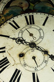 Old Style Clock Face Close Up — Stock Photo
