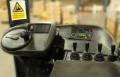 Forklift Driver Controls — Stock Photo