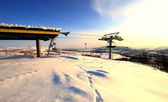 Resort Chair Lift Norway — Stock Photo
