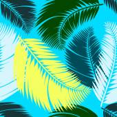 Multicolour palm leaves seamless pattern — Stock vektor
