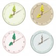 Set of seasonal clock summer, autumn, winter and spring. — Vector de stock  #54504699