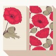 Red poppy flowers business card set — Stock Vector #59544131