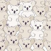 Many koalas seamless background — Stock Vector
