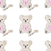 Koala with heart and key — Stock Vector